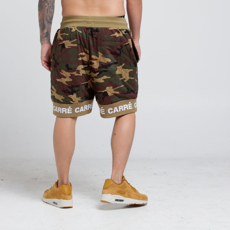 Carré Signal Quilted Shorts Camo