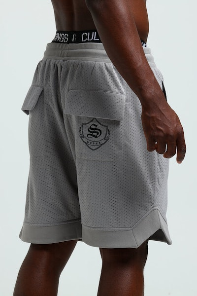 Saint Morta Sideline Basketball Short Grey