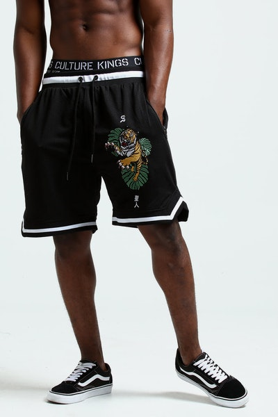 SAINT MORTA TIGER MESH BASKETBALL SHORT BLACK