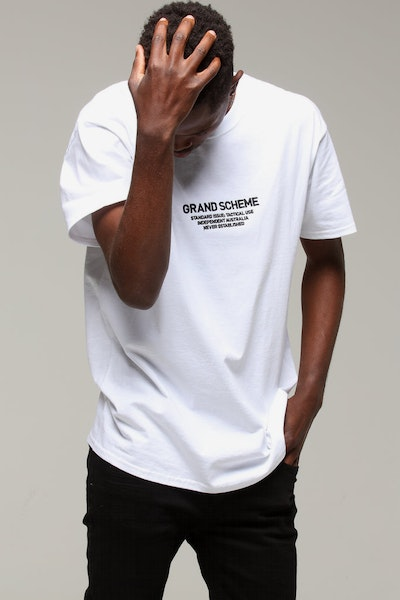 Grand Scheme x Champion Standard Issue Tee White