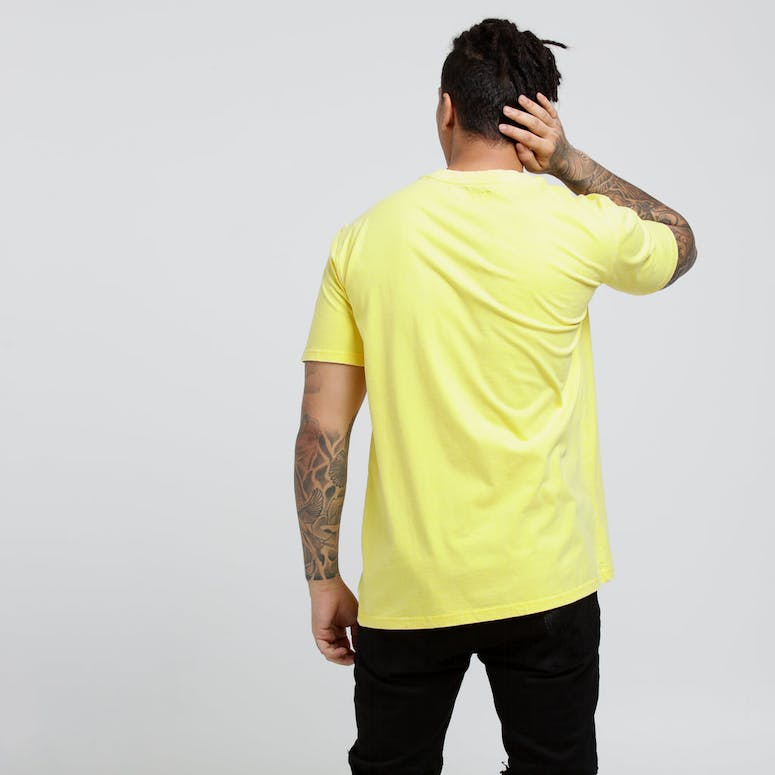 Draft Day Washed Up SS Tee Yellow