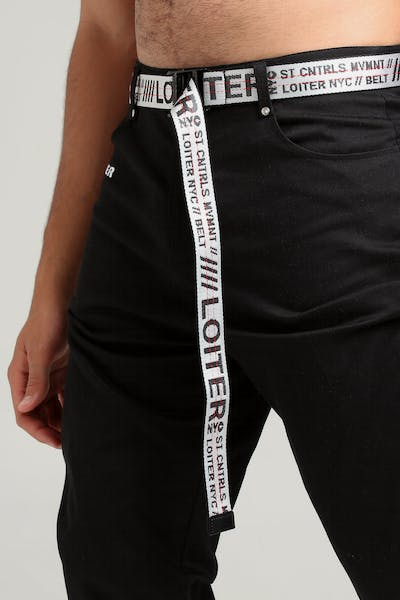 Loiter NYC Industrial Belt White