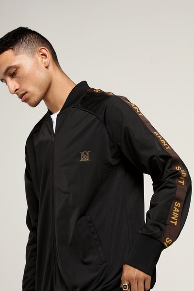 Saint Morta Heritage Track Jacket Black/Brown