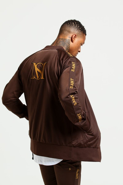 Saint Morta Heritage Track Jacket Brown/Beige