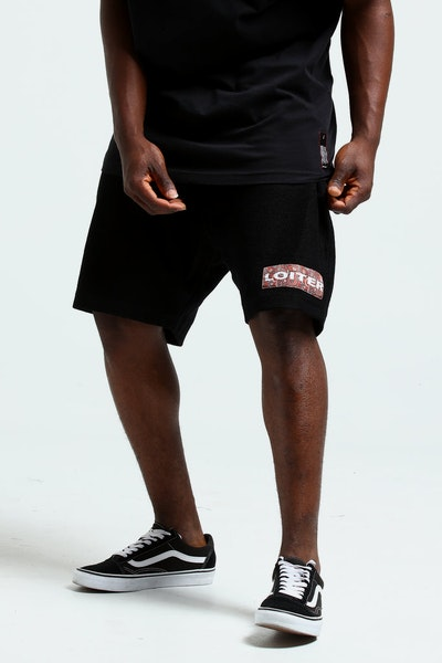 Loiter NYC Paisley Shorts Black