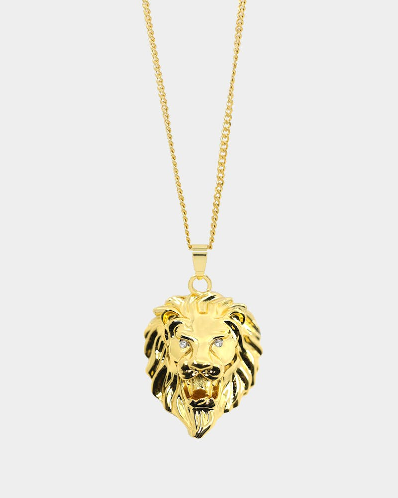 Last Kings Men's Lion Necklace Gold