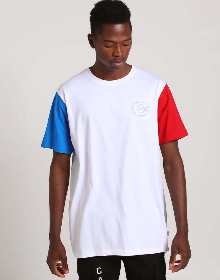 Carré Trois Droptail SS Tee White/Blue/Red