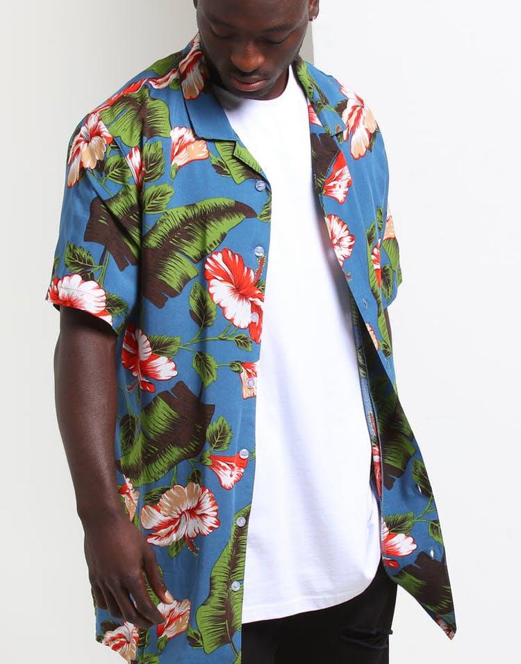 edf06085 New Slaves Tropical Dreams Button Up Multi-Coloured