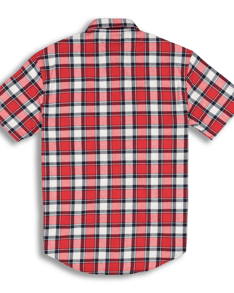 New Slaves ZIP Tartan Flannel SS Shirt Red/Black