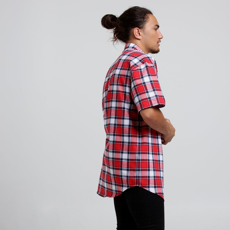 New Slaves ZIP Tartan SS Shirt Red/Black
