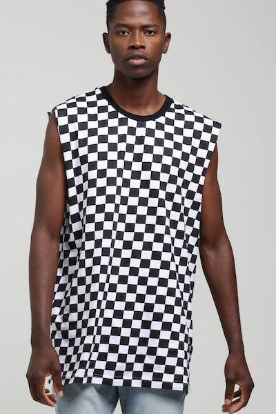 New Slaves Checkerboard Muscle Black/White
