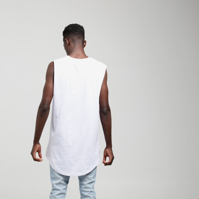 New Slaves Longline Muscle White