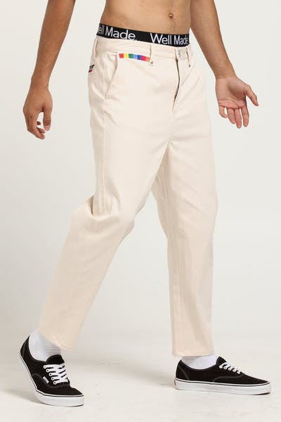 Loiter Nuance Cropped Chino Cream/Beige