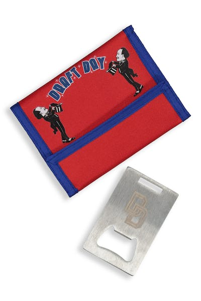 Draft Day Magic Men Slap Wallet Red