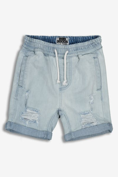 Lil Hommé Vieilli Denim Short Blue Denim