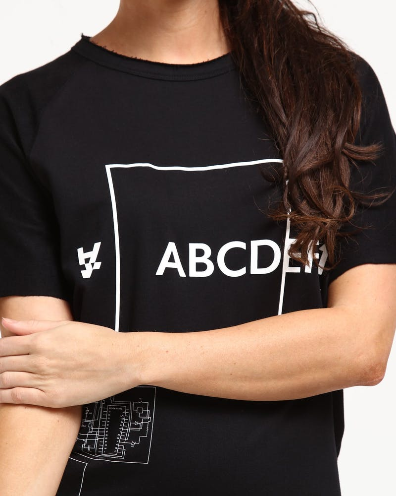 The Anti-Order ABCDEF1 Regulation Tee Black