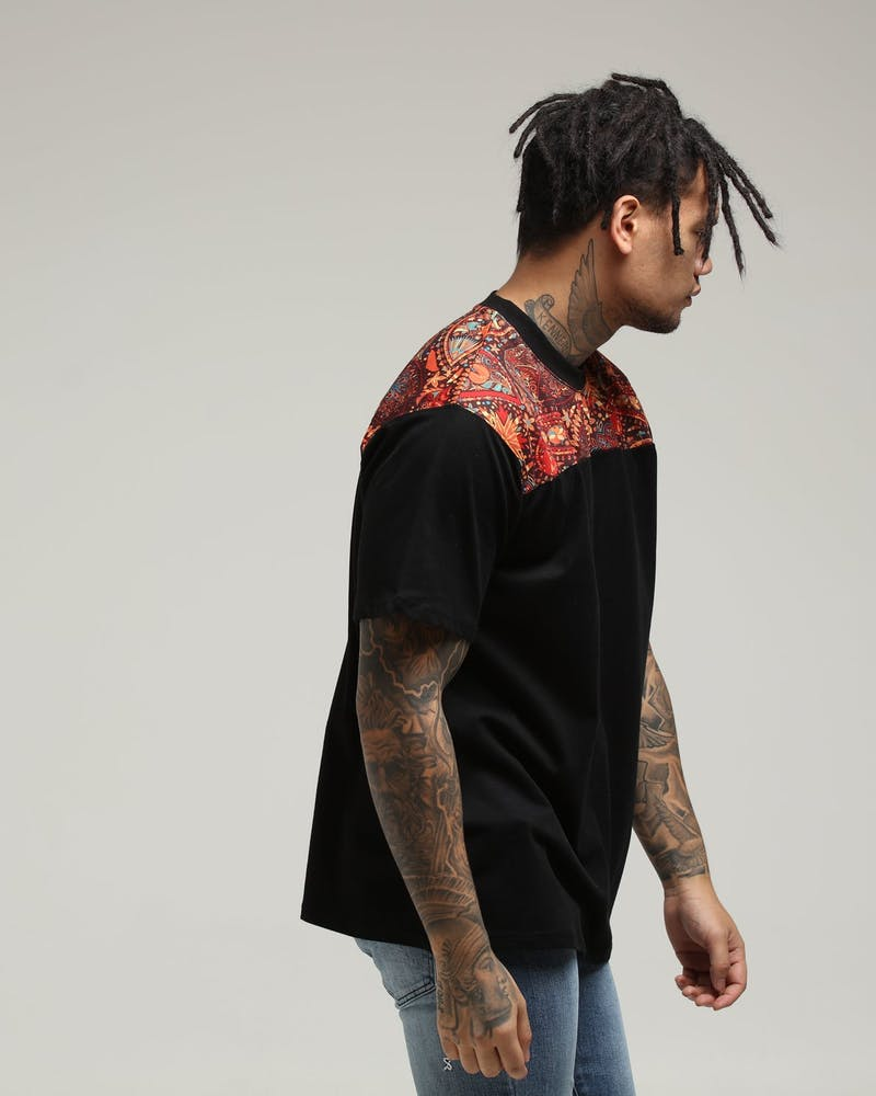 New Slaves Top Panel Tee Black/Paisley