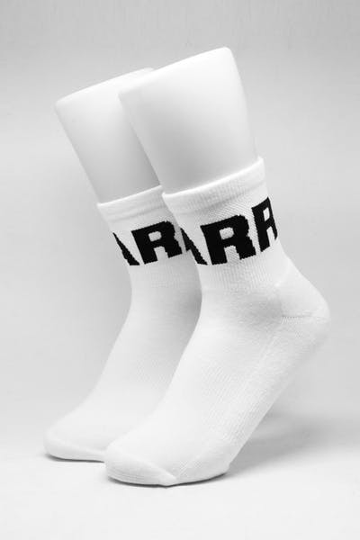 Carré Signal Lo-Cut Socks White