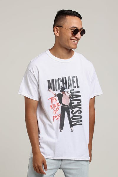 Michael Jackson King Of Pop Tee White