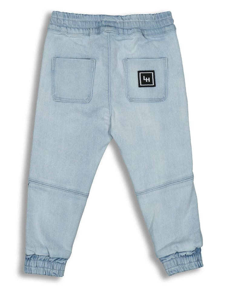 Lil Hommé Biker Panel Jogger Blue Denim