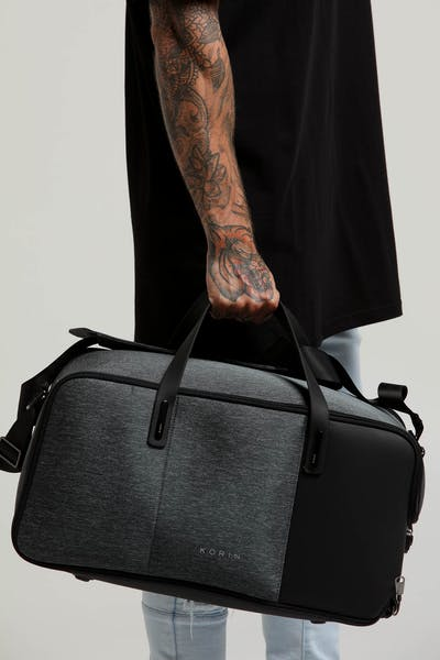 Korin Flexpack Go Duffle Bag Charcoal/Black