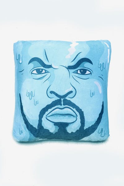 8389f2753c3 Goat Crew Cube Expression Pillow Blue White
