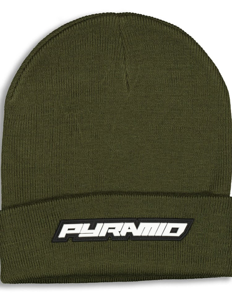 Black Pyramid Fold Pyramid Scully Beanie Olive