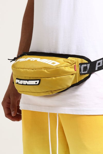 Black Pyramid Waist Bag Yellow