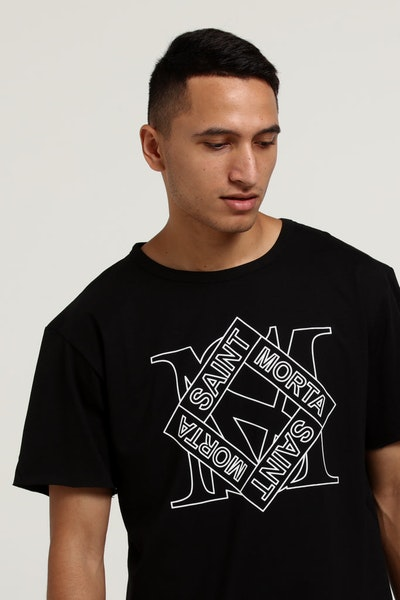 SAINT MORTA MADEOFF TALL TEE BLACK/WHITE