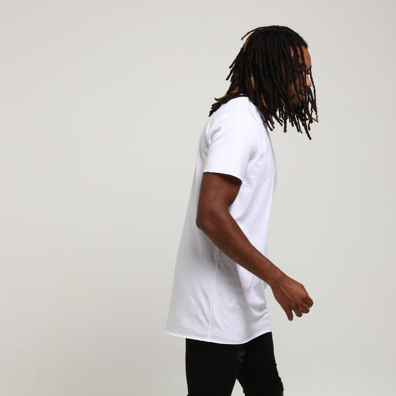 Well Made Raw Edge Tee White
