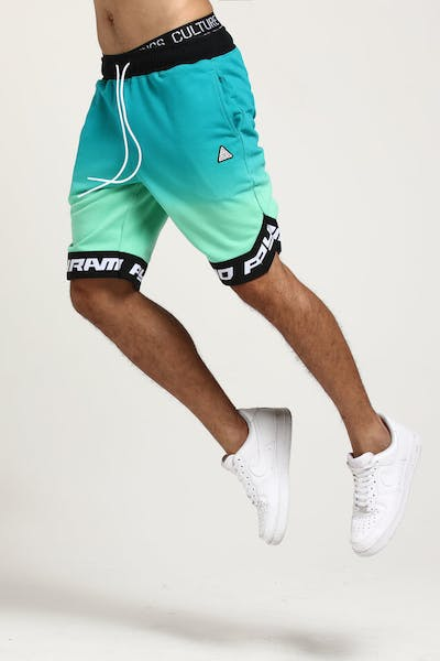 Black Pyramid Dip Dye Pastel BBall Short Mint Green
