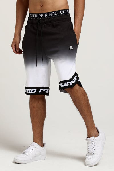 Black Pyramid Dip Dye Core BBall Short Black