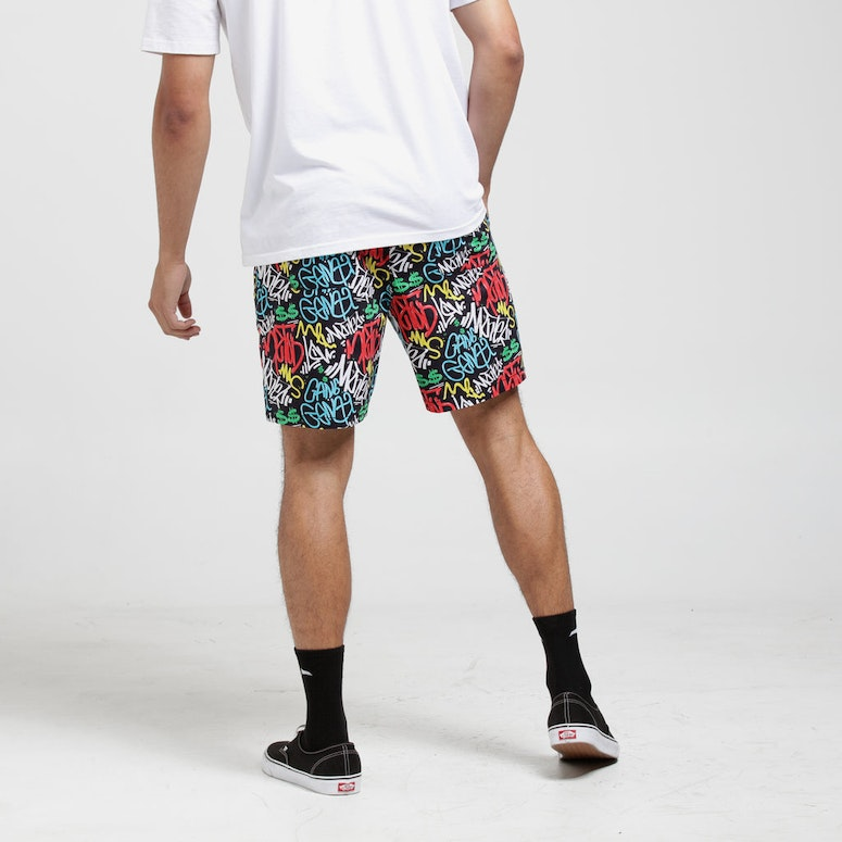 Goat Crew Graff Party Shorts Black