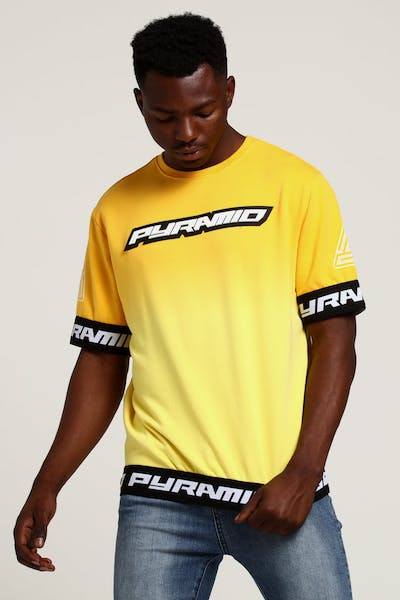 Black Pyramid Dip Dye Pastel SS Crewneck Yellow
