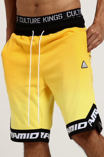 Black Pyramid Dip Dye Pastel BBall Short Yellow