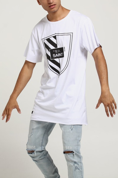 SAINT MORTA REGIMENT TALL TEE WHITE/BLACK
