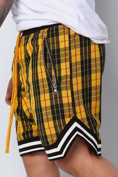 Civil Regime Clothing Mulholland Shorts Black/Yellow