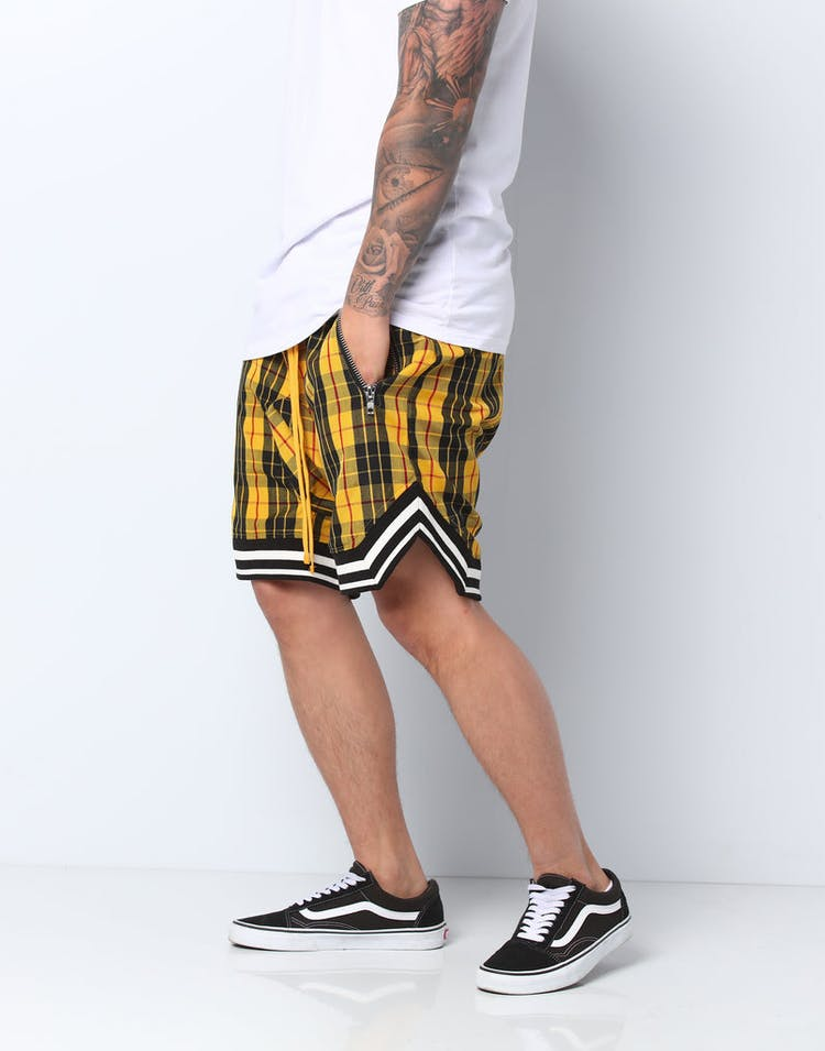 4393a55ae64 Civil Regime Clothing Mulholland Shorts Black/Yellow – Culture Kings