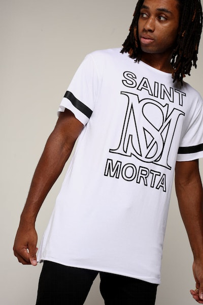 Saint Morta Wyoming Tall Tee White/Black