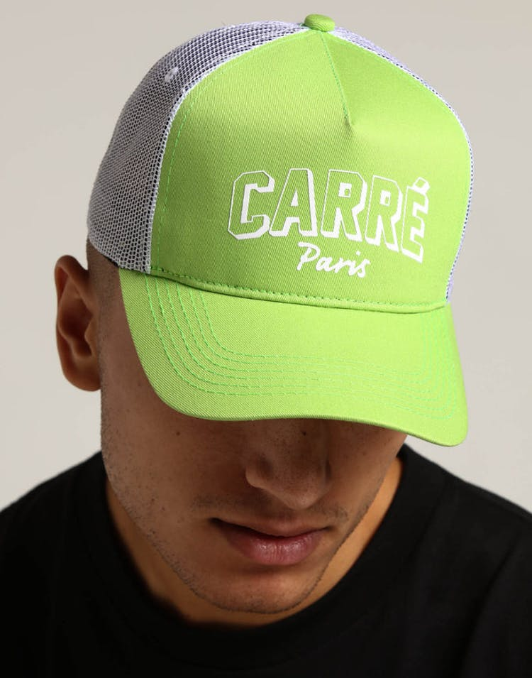 c8a48621c411f2 Carré Brilliant Trucker Hat Neon Green – Culture Kings