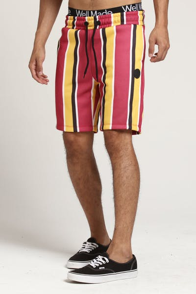 Criminal Damage Marley Short Red Multi-Coloured