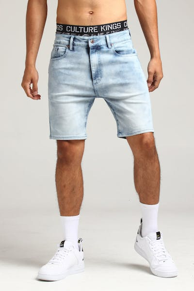 New Slaves Dimension Shorts Light Blue