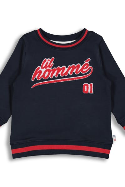 Lil Hommé LH Undefeated LS Sweater Navy