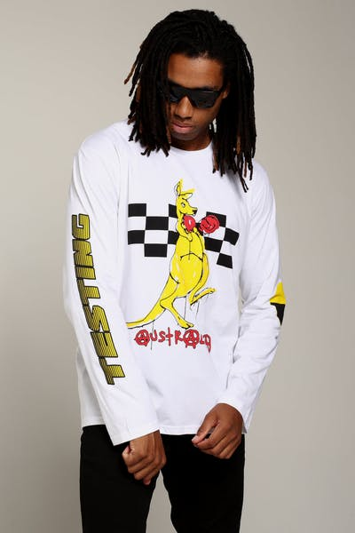 ASAP ROCKY APPAREL Boxing Kangaroo LS Tee White