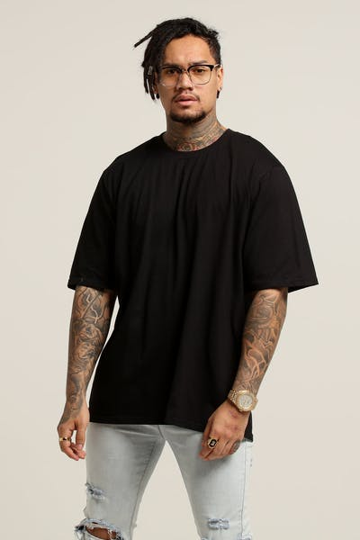 New Slaves Boxy Tee Black
