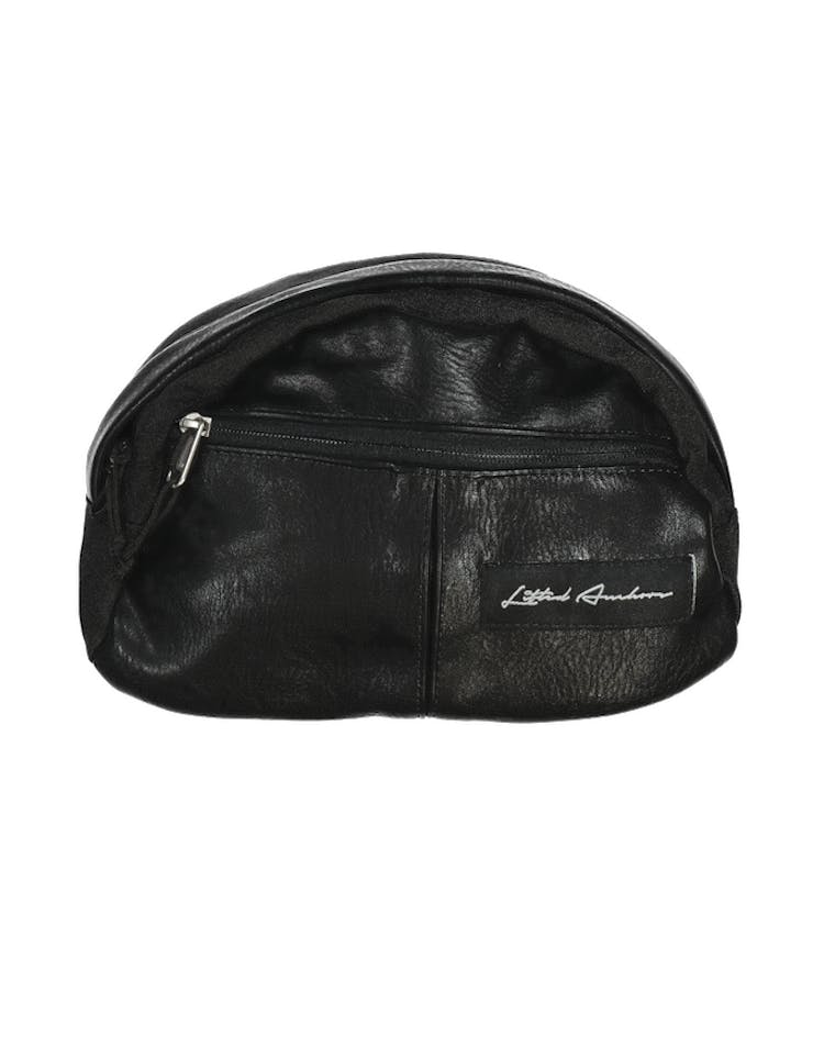 Lifted Anchors Leather Side Bag Black