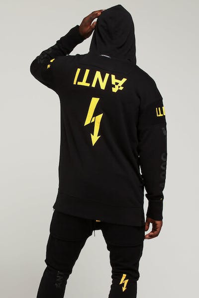 THE ANTI ORDER NON-VOLTAGE HOODY BLACK/YELLOW