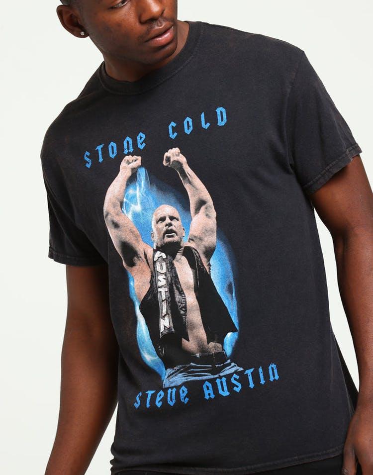 87690012 WWE Stone Cold Steve Vintage Tee Black – Culture Kings