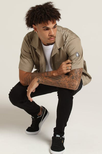 Last Kings The Grind Button Up Tan