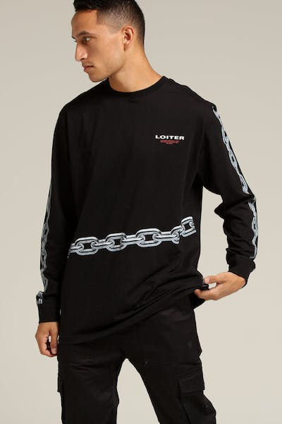 Loiter NYC Chained LS Tee Black